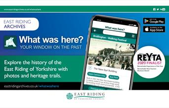 The What Was Here app being used on a mobile device, in East Yorkshire