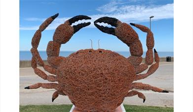 Crab sculpture on Withernsea Fish Trail
