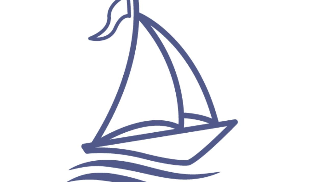 AN image of an icon of a boat sailing on water