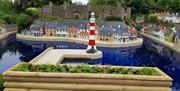 Bondville Harbour with Lighthouse & Castle.