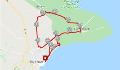 Bridlington Half Marathon Map