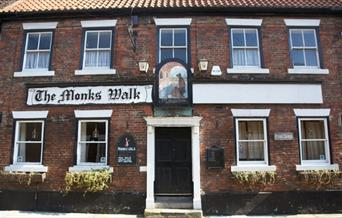 The front exterior of the Monks Walk pub in Beverley, East Yorkshire