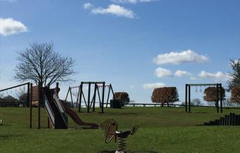 The children's play area at Burton Constable Holiday Park in East Yorkshire.