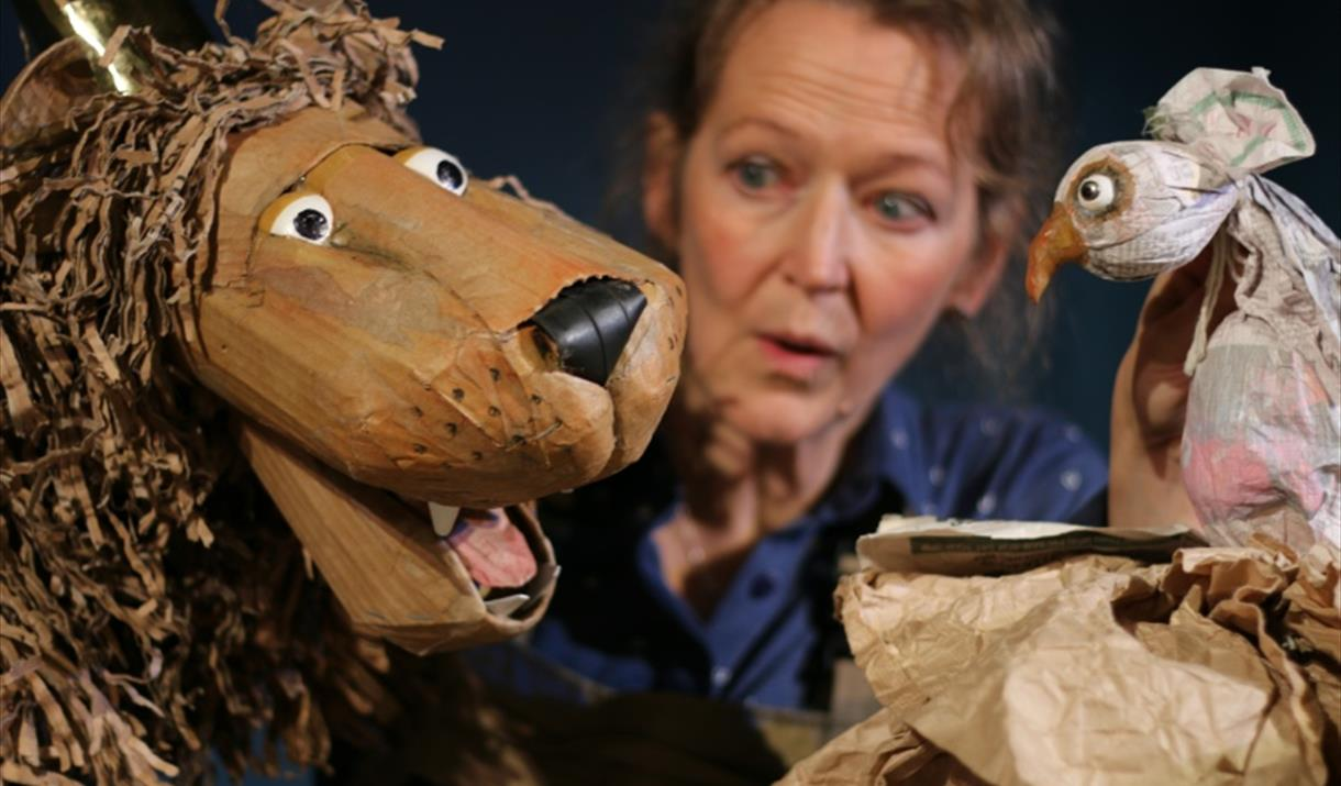 Lempen Puppets, performing at Welwick Parish Hall, East Yorkshire