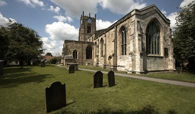 The church and graveyard at All Saints' Church, East Yorkshire