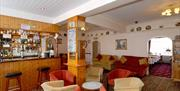 The bar/reception area at Bay Ridge in East Yorkshire.