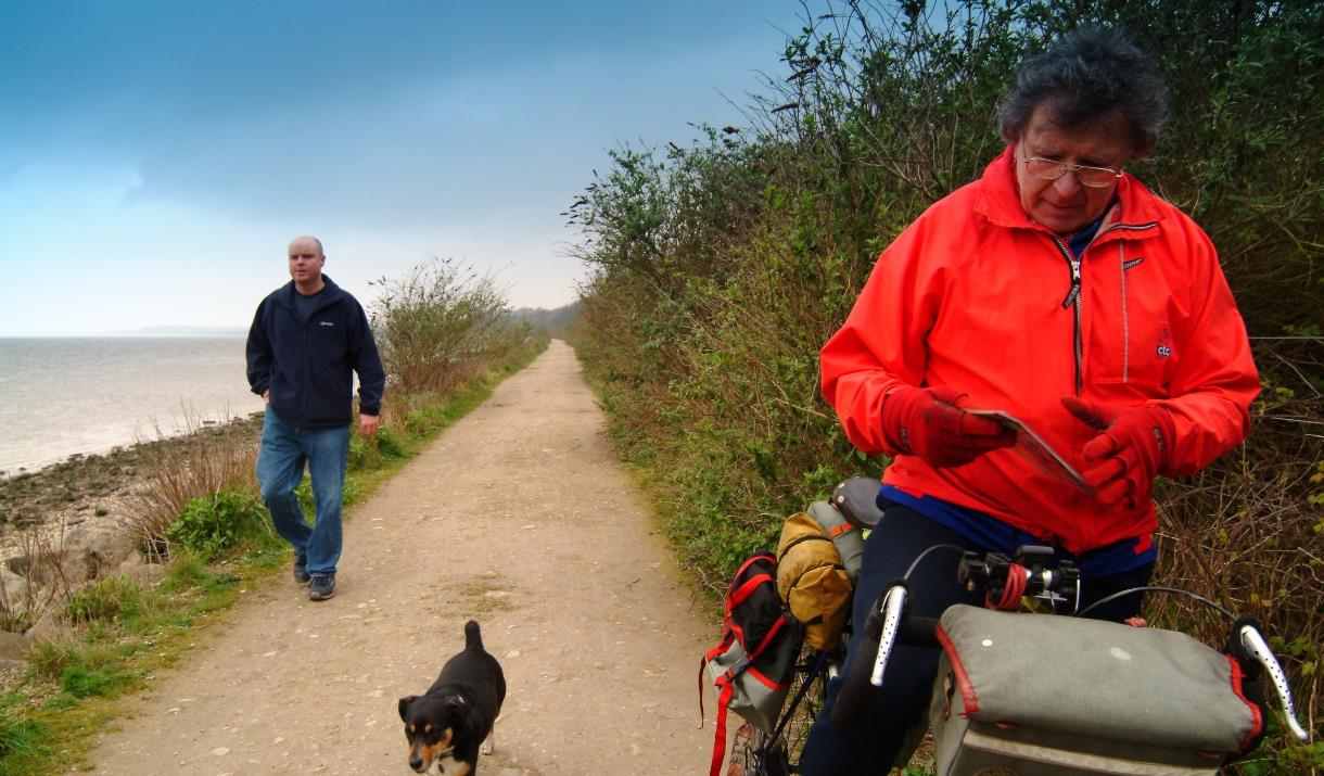 An image of a cyclist on the Transpenine Trail, by the Transpenine Trail, in East Yorkshire