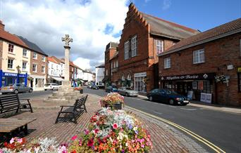 The Market Place in Howden, East Yorkshire.