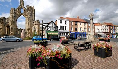 The Market Cross in the centre of Howden, East Yorkshire.