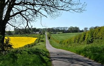 Roads on the Yorkshire Wolds in East Yorkshire.