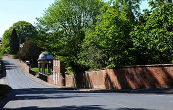 The main road through Sledmere village in East Yorkshire.