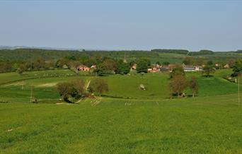 A view of Huggate in the Yorkshire Wolds.