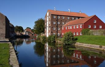 Driffield canal head in East Yorkshire.