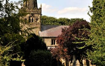 The church in the village of Huggate, East Yorkshire.