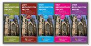 Various Bridlington Priory in East Yorkshire, leaflets duplicated in different colours.