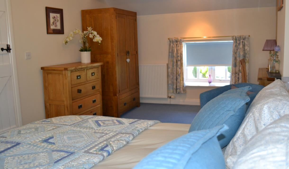 A double bedroom at Rose Cottage in East Yorkshire.