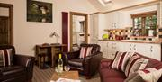 Otter Cottage living area / kitchen at Barmston Farm Holiday Park in East Yorkshire.