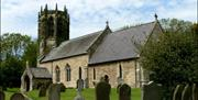 The church and graveyard, East Yorkshire