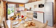 An image of a kitchen at Field House Farm Cottages in East Yorkshire.