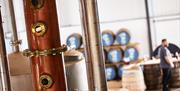 Men working at Spirit of Yorkshire Distillery in East Yorkshire.
