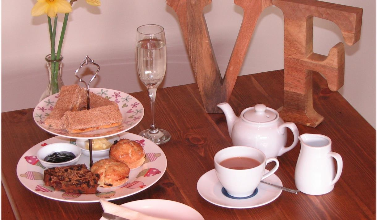 An afternoon tea at Village Farm, East Yorkshire