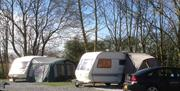 Touring caravan pitched at Park Rose Caravan and Tents in East Yorkshire.