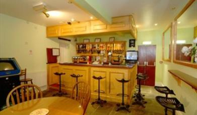 A bar and seating at Oakwell Hotel in East Yorkshire.