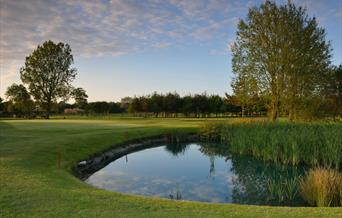 A fairway and  pond at Belvedere Hotel & Golf in East Yorkshire.