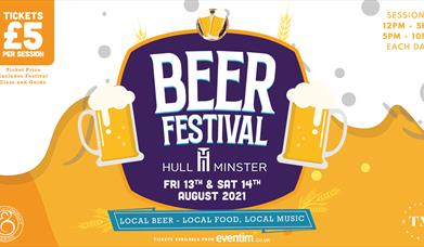 Beer Festival in August at Hull Minster, East Yorkshire