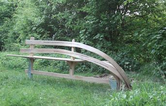 Wander bench at Spring Dale View Point, near Goodmanham on the Yorkshire Wolds.
