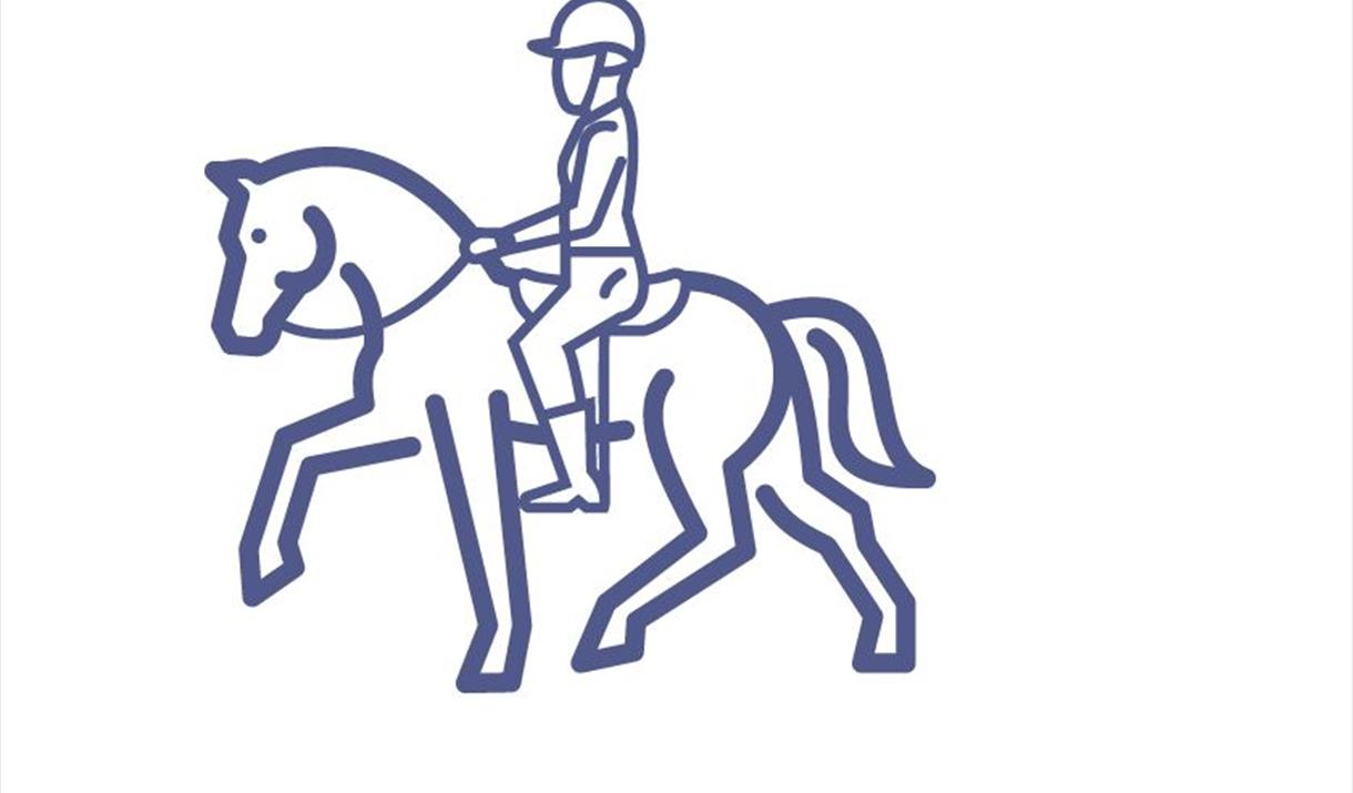 AN image of a horse & rider, representing country pursuits & activities