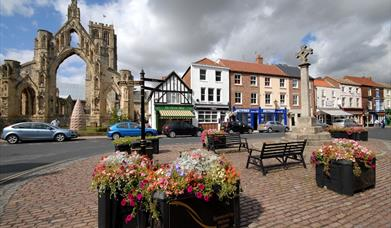 The  Market Place at Howden in East Yorkshire.