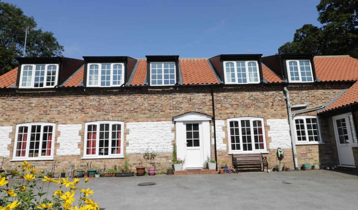 The cottage exterior of Bessingby Mews, Bridlington in East Yorkshire.