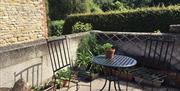 Outdoor seating at Apple Loft, Nordham Cottages, North Cave, East Yorkshire