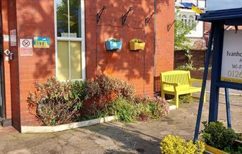 The entrance at Ivanhoe Guest House, Bridlington, East Yorkshire