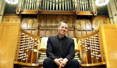 The organ at St John's Burlington Methodist Church, Bridlington, East Yorkshire