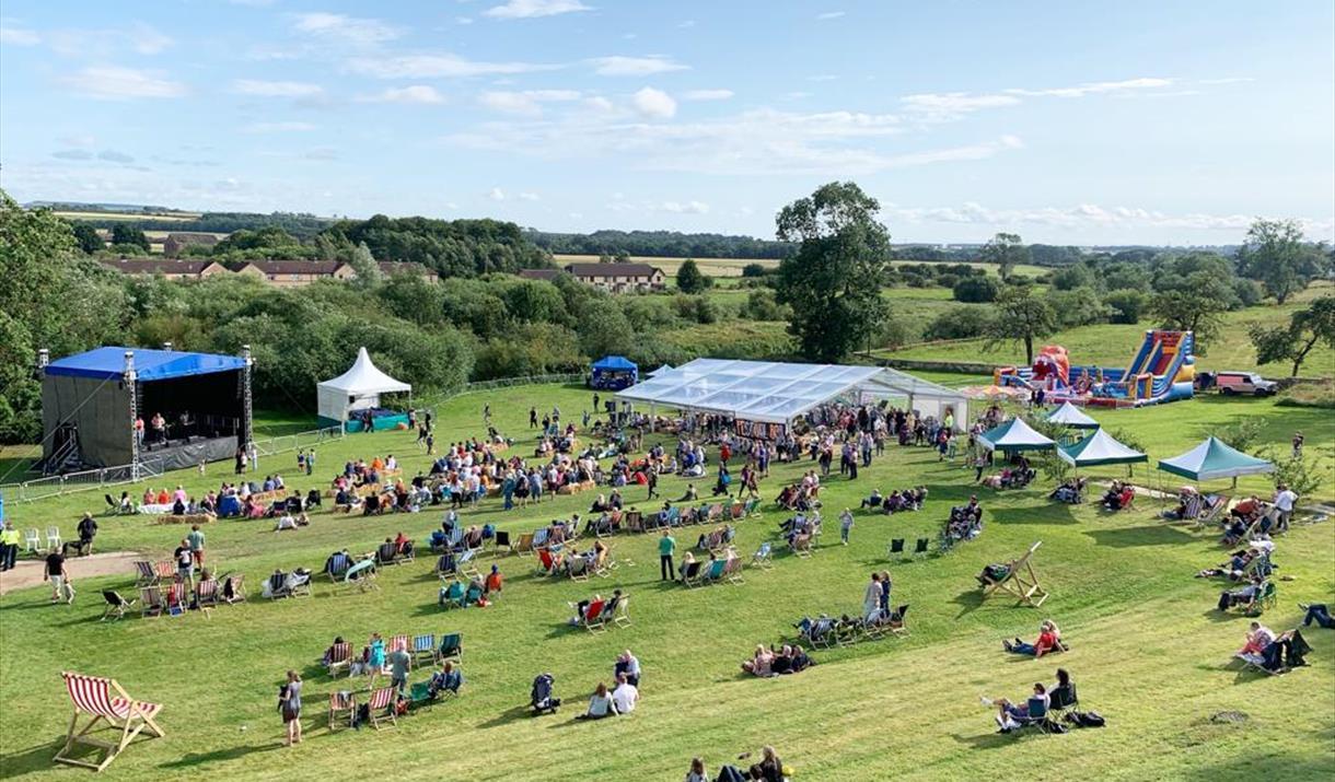 Meadowfest field, Malton, Yorkshire
