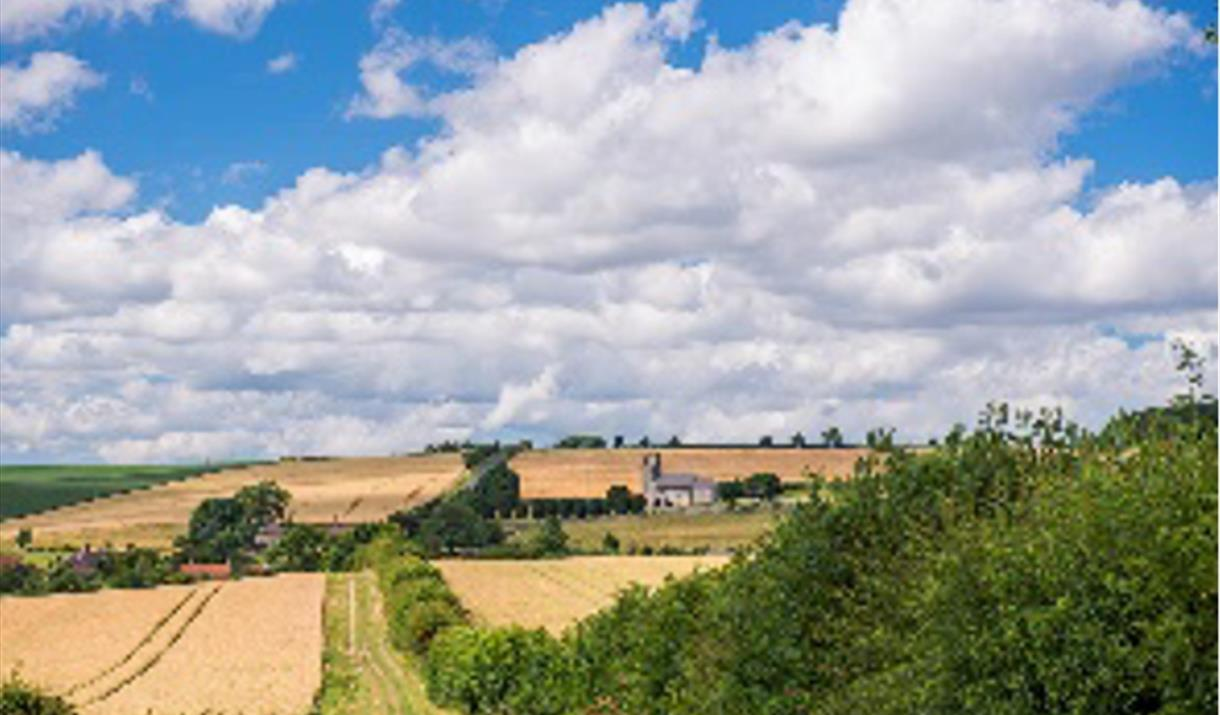 The Yorkshire Wolds, subject of the talk at Pocklington Arts Society's relaunch event, Pocklington, East Yorkshire