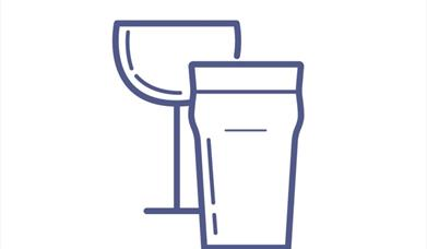 An image of an icon of a wine glass & a pint glass