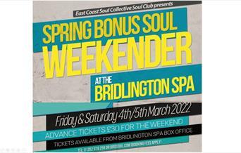 Special Bonus Northern Soul Weekender, at Bridlington Spa, Bridlington, East Yorkshire
