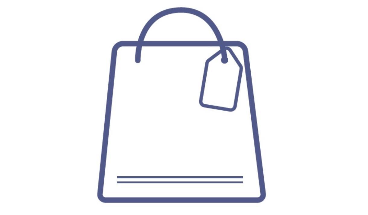 An image of a shopping bag logo