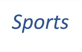 The word 'Sports', representing a wide variety of sporting activities, in East Yorkshire