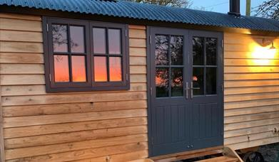 Image of Starlight Retreat. Bespoke handmade Shepherd's Hut.