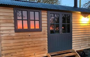 Image of Starlight Retreat. Bespoke handmade Shepherd's Hut.