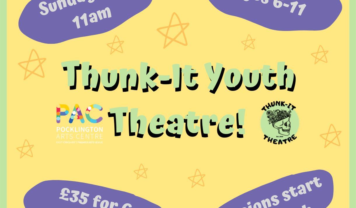 Thunk-It Youth Theatre online workshop, Pocklington Arts Centre, East Yorkshire