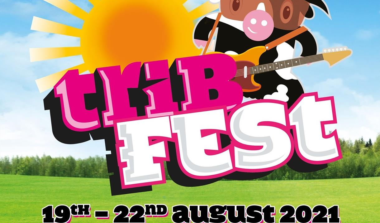 TribFest Music Festival 2021 poster. Held at Sledmere House, Sledmere, Driffield, East Yorkshire