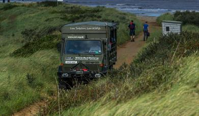The Unimog - amphibian vehicle - used for Safaris at Spurn Point, East Yorkshire