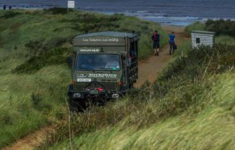 The Unimog  - used for Safaris at Spurn Point, East Yorkshire