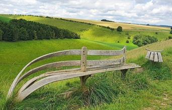 Wander bench near Huggate on the Yorkshire Wolds.