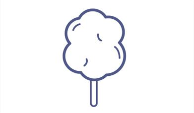 An image of an icon of candyfloss, representing a variety of fun things to do with the family